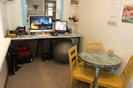 Adam's office and our cozy dining room. :o)
